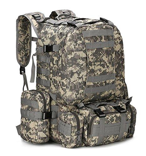 Fortuning's JDS Neue taktische militärische Sport im Freien Rucksäcke Trekking Tasche 50L Rucksack Camping ACU Camo