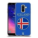 Head Case Designs Isländische Fahne Fahnen Flicken Soft Gel Hülle für Samsung Galaxy A6 Plus (2018)