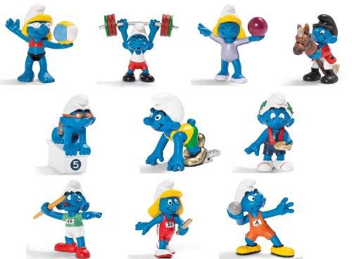 Die Schlümpfe Olympic Smurfs 10-teiliges Figuren Set von Schleich, ca. 6cm
