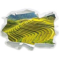 Cinesi scatole piantagioni di riso scala, il formato adesivo carta da parati 3D: 62x45 cm decorazione della parete 3D Wall Stickers Stickers murali - Design Inchiostro Cinese