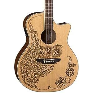 luna henna oasis spruce series ii acoustic electric guitar musical instruments. Black Bedroom Furniture Sets. Home Design Ideas