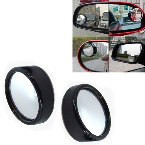 2X Auto Winkelspiegel Sicherheitsspiegel Spiegel für Toten Winkel 360° Einstellung