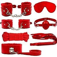 Semoss Bondageset 11 teilig, extrem geiles BDSMS Spielzeug für heißen Sex, Fesseln, Peitsche, Halsband und vieles mehr, SM Bondage Sexspielzeug