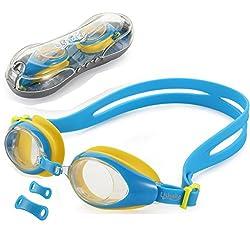 Kinder Schwimmbrille, USHAKE Anti Nebel UV-Schutz Weiche Silikon Feld Schwimmbrille mit klaren Linsen, einfach für Kinder und frühe Jugend zu verwenden