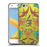 Head Case Designs Samt, Schlangen Und Voegel Gedruckte Patches Und Textilien Soft Gel Hülle für HTC One A9s