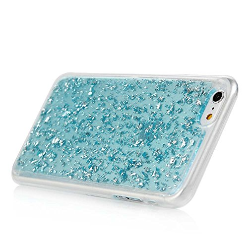 "MAXFE.CO TPU Silikon Hülle für iPhone 6 6S 4.7"" Handyhülle Schale Etui Protective Case Cover Rück mit Golden Design Skin Blau"