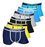 Reedic -  Boxer - Uomo je 1x dunkelblau, gelb, schwarz, grau, blau, türkis X-Large (XLarge)