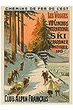 Herbé TM Ski GéRARDMER 1913 Rf960 - Poster/Reproduction 30x42cm d'1 Affiche Vintage/Ancienne/RéTRO...