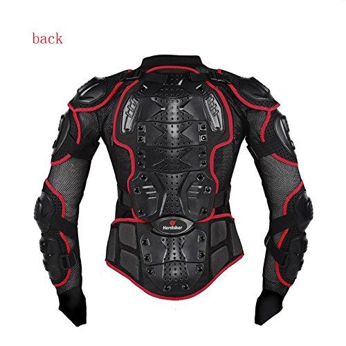 Preisvergleich Produktbild Kaigeli888 Profi Motorradjacke - Mit Protektoren - Prevent Herbst Motorradjacke (XL, Rot,wählen Sie bitte die größere Größe)