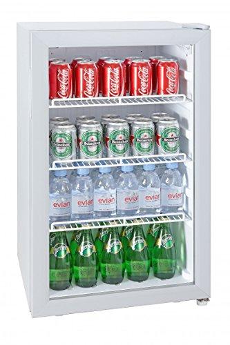 Silva Schneider Homeline G-KS 1595 Gastro-Kühlschrank, Barkühlschrank, 92 Liter, Glastür, EEK C, Temperaturregelung (7 Stufen), Innenbeleuchtung