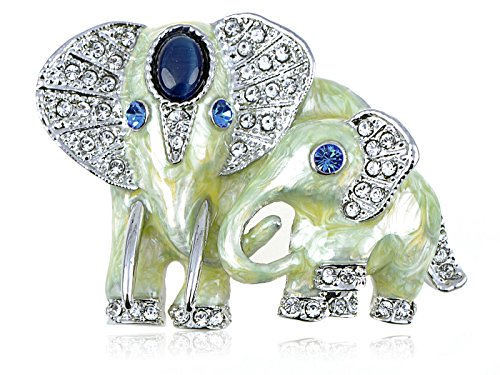alilang-silvery-tone-clear-crystal-colored-rhinestones-pearlescent-elephant-brooch-pin