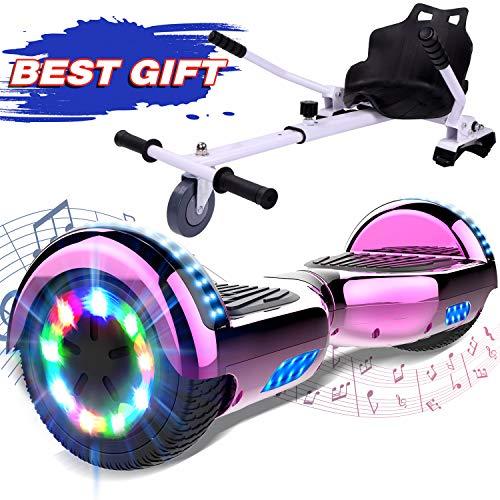 """GeekMe Elektro Scooter Self Balancing Scooter 6.5\"""" Segway Geschenk für Kinder und Erwachsene - Bluetooth-Lautsprecher LED-Leuchten 700W"""