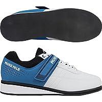 More Mile More Lift 4 - scarpe da donna e uomo per sollevamento pesi/Cross Fit, colore: bianco, White / Blue, UK 8.5-US 9.5