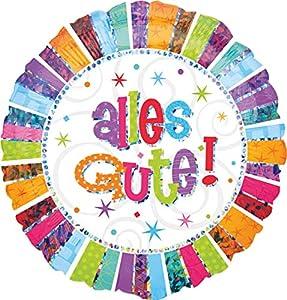 amscan 2576901 Radiant Birthday Alles Gute - Globo de plástico con diseño de pájaros