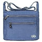 EGOGO Messenger Umhängetasche Umhängetasche mit Reißverschlusstaschen (Blau)