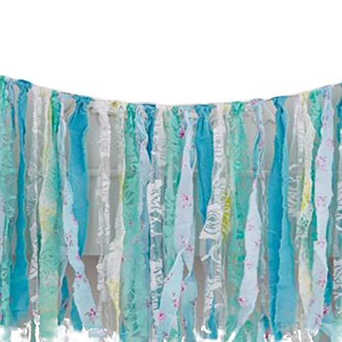 Garland Blau Handgemachte Gewebe-Fahne Fringe hängen Dekor Hochzeit Nursery Foto Props Brautpartei Dusche ()