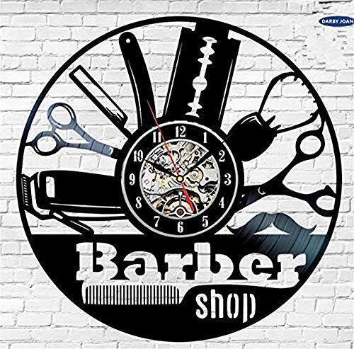 AIYOUBU-Wall Clockcreative Geschenkidee für Friseur Hair Beauty Salo Friseursalon Frisur Art Decor Clock Design -