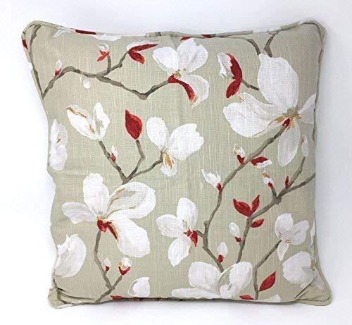 4 Rembourré Arrière Floral Fleurs Rouge Blanc Ambiance 18 \
