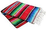 Del Mex X-Large mexikanischen Sarape Decke rot (208,3cm von 157,5cm)