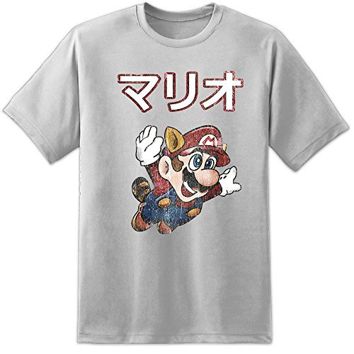 Adults Super Mario Brother Japanese Distressed T Shirt