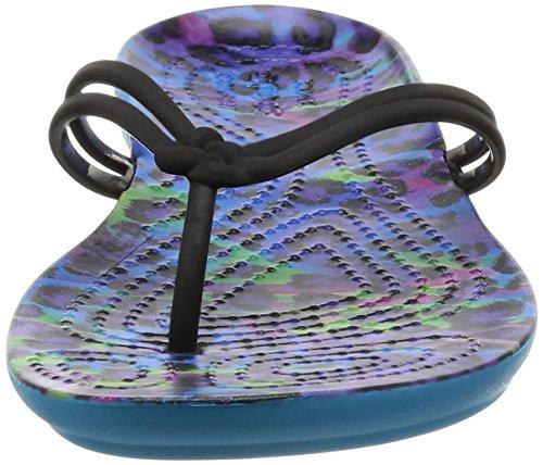 crocs Damen Isabella Graphic Sandalen Flipflops Verschiedene Farben (Mehrfarbig / Leopard)
