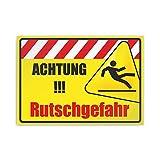 Kiwistar Achtung! Rutschgefahr Parkplatzschild PVC - 21 x 15cm