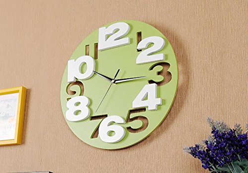 Preisvergleich Produktbild 12 inch clock clock living fashion creative 3D stereo digital mute children room table modern minimalist clock