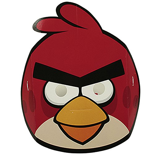 PARTY DISCOUNT NEU Masken Angry Birds aus Pappe, 6 Stk.