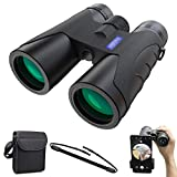 Prismáticos Profesionales 12x40, HD Binoculares Potentes,Visión Nocturna,Prismas BAK4 y...
