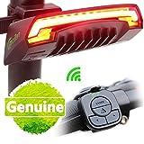 Telecomando wireless intelligente bici fanale posteriore con frecce–impermeabile USB rechargeable- bicicletta fanali posteriori a LED per mountain bike, BMX, bici da strada e bici ibrida