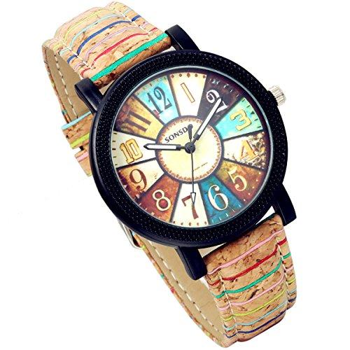 lancardo-kathedrale-glas-farbe-zifferblatt-holzmaserung-leder-band-analog-quarz-armbanduhr