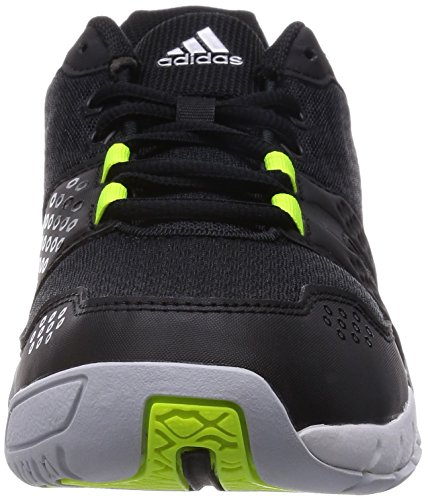 adidas Volley Team 3, Chaussures de Volleyball Homme Noir / Lime / Gris