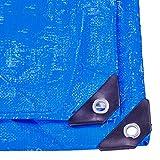 ZQ Abdeckplane Wasserdichtes Allgemeines Vielzweck 12 Mil-Polyplane Groß Für Plane-Überdachungs-Zelt, Boot, RV Oder Pool-Abdeckung, Blaues Weiß (größe : 4M×6M)