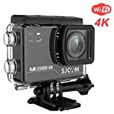 4K 14MP WIFI Action Camera SJCAM SJ6 Legend Air with 2.0 HD Touchscreen/170 Degree Wide Angel/ Gyro Stabilization/ External Microphone/Remote Control Waterproof Underwater Camera for Diving Helmet(Black)