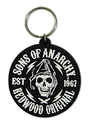 empireposter Sons of Anarchy - Redwood Original - Gummi Schlüsselanhänger Keyring - Größe ca. 4,5x6 cm