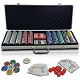 Jago PC500-Ultimate chips poker set valigetta con dadi e carte