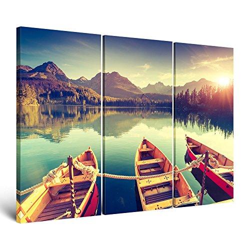 ge-Bildet Leinwandbild zum Angebotspreis Naturbilder Landschaftsbilder Tatra Nationalpark in der Slowakei natur - 120x80 cm 3 teilig - mehrteilig XXL - direkt vom Hersteller aus Deutschland