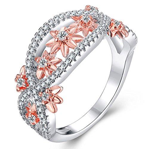 Liebe Infinity Ring Elegant Daisy Flower Band Ewigkeit Ring 7 (Geschenke Unter 4 Dollar)
