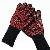 XY Life Topfhandschuhe Grillhandschuhe topflappen, Anti Rutsch Hitze Beständig Silikon Baumwoll BBQ handschuhe für küche back ofen Topf grill lebensmittel zubehör,1 paar