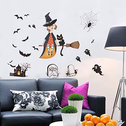kleber für wohnzimmer schlafzimmer halloween party decor bat geist wandbilder vinyl wasserdicht diy kunst aufkleber ()