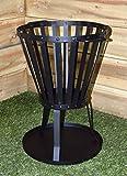 Nueva Brasero barbacoa acero Cesta quemador de carbón vegetal de madera de jardín Registro de estufa Brazier Horno metal negro