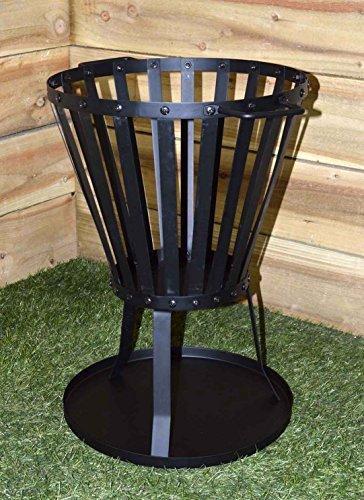 New-Braciere per barbecue, in acciaio,-Riscaldatore per esterno, giardino, Patio, carbone di legna da ardere, bruciatore per brasati forno, in metallo, colore: nero