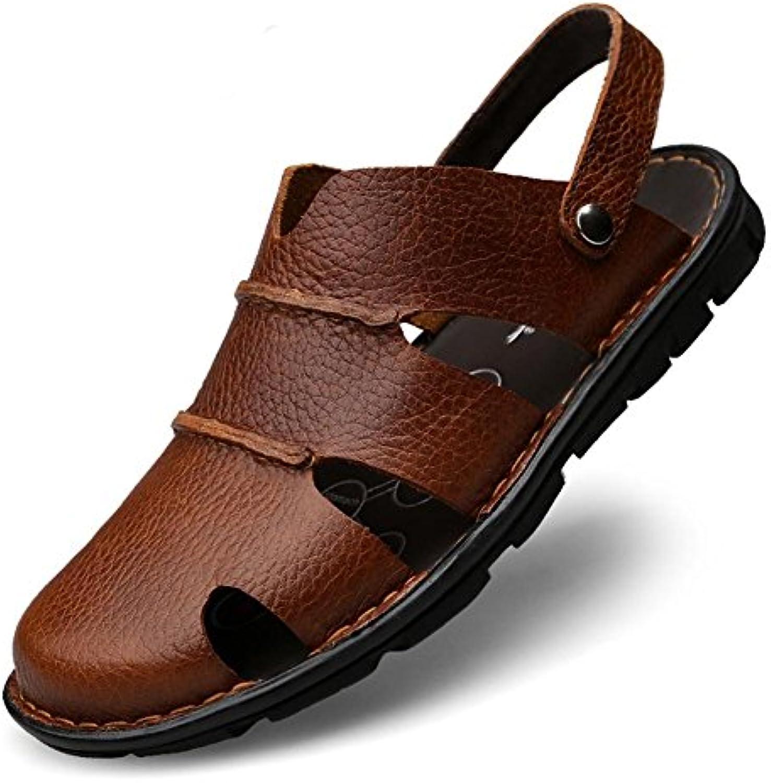 Sandalen Männer Leder Mode Wasser Schuhe Sommer Soft Cowhide Beach SlipperSandalen Männer Wasser Cowhide Slipper