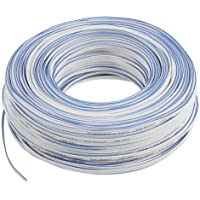 Valueline LSP-031R - Cable para altavoz, 2 x 0.50 mm², 100 m, blanco