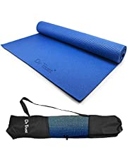 Dr Trust PVC Yoga Mat with Cover Bag for Gym Workout and Flooring Exercise Yoga Mat for Men and Women Fitness