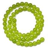 Hilai 6mm lime verde giada pietra preziosa rotonda sciolto perline filo 38,1cm