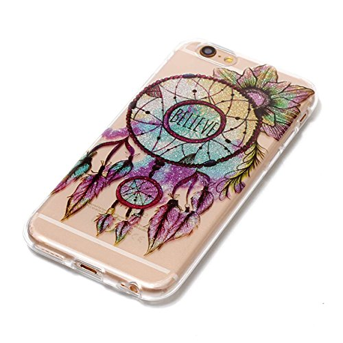 Cover iPhone 6S,RUIST Custodia Shock-Absorption Bumper e Anti-Scratch TPU Silicone Gel Gomma Ultra Sottile Polvere dargento Flash Protettiva Shell Case Cover per Apple iPhone 6 / 6S (4,7 Pollice) - D Dreamcatcher