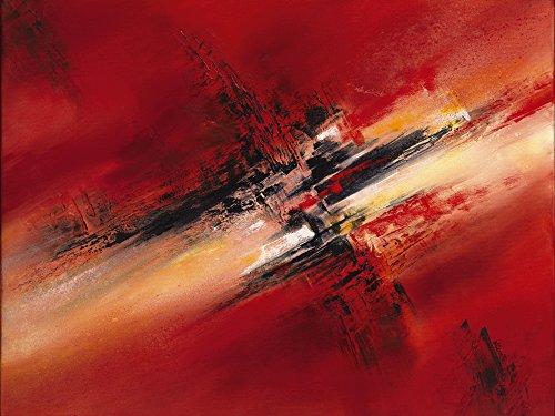 Artland Qualitätsbilder I Bild auf Leinwand Leinwandbilder Wandbilder 60 x 45 cm Abstrakte Motive Gegenstandslos Malerei Rot B0ML Zerstreutheit II