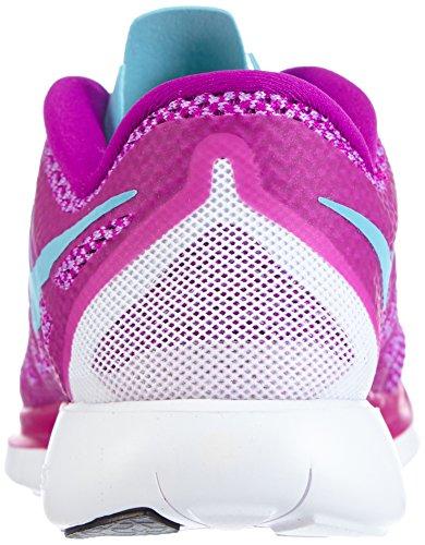 Nike Damen Free 5.0 Laufschuhe Violett (Fuchsia Flash/Clearwater/Fuchsia Glow)