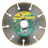 Wolfcraft 8370000 Disco de Corte Amoladora para Cortar Madera con Clavos HM, 0 W, 0 V, 125 x 22.23 mm
